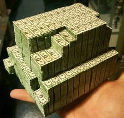 1:12 scale money pile action figure prop Marvel Legends, DC