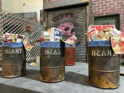 1:12 Scale Trash Barrel Prop For Dioramas, Mezco,Hasbro Marv