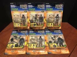 1:18 BBI Elite Force Army Desert Ops Figures Lot Of 6 Dela18