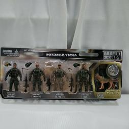 1:18 BBI Elite Force ARMY RANGERS Assault Figure Soldier Set