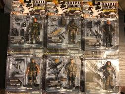1:18 BBI Elite Force USMC ARMY USAF NAVY Figure lot of 6