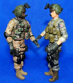 1:18 BBI Elite Force U.S Army Black Hawk Helicopter Gunner P
