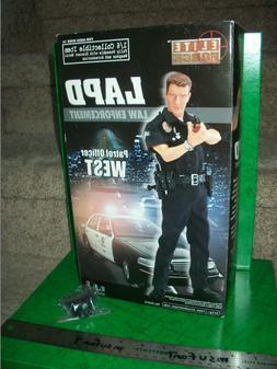 1:6 Elite Force/ BBi LAPD Patrol Officer West, w/ Bonus Hat,