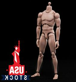 1/6 Male Figure Body Model Toy Standard Muscle Flexible for