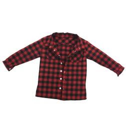 1/6 Red Plaid Shirt Jacket Male Clothes for 12 inch Men Acti