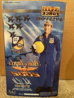 "BBI 1/6 Scale 12"" Elite Force Blue Angels Aviator Scott Kart"
