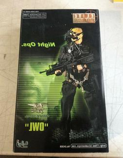 """BBI 1/6 Scale 12"""" Elite Force US Navy Seal Night Ops Owl Act"""