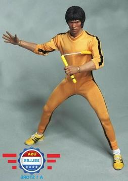 1/6 scale Bruce Lee Game of Death Yellow Suit w/ NunChaku fo