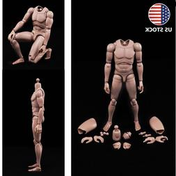 1:6 Scale Emulated Male Muscular Figure Body F/12'' Man Acti