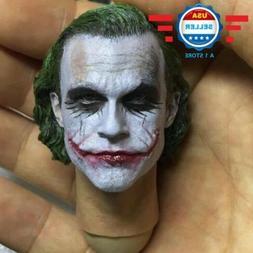 1/6 Scale Joker Heath Ledger Head Sculpt for 12'' Male Figur