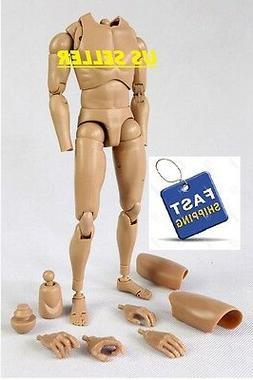 1/6 scale Male Body Narrow Shoulder Figure as hot toys TTM18