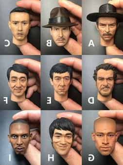 1/6 scale Male head sculpt for 12'' Action Figure