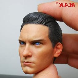 1/6 Scale Male Head Sculpt Black <font><b>Spider-Man</b></fo