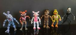 "1 SET OF 6 PCS FIVE NIGHTS AT FREDDY'S 5-6"" LIGHT UP PVC FIG"