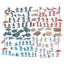 124 Military Figures and Accessories - Army Men - Toy Army S