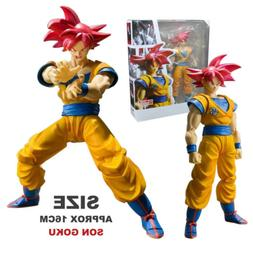 16CM Dragon Ball Z Red Super Saiyan God Red SS Son Goku Goko