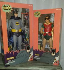 NECA 1966 Batman and Robin 1/4 Scale figures NIB Unopened