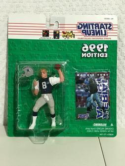 1996 TROY AIKMAN Starting LineUp Dallas Cowboys SLU white je