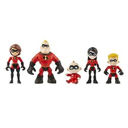 2 Family 5-Pack Junior Supers Action Figures, Approximately