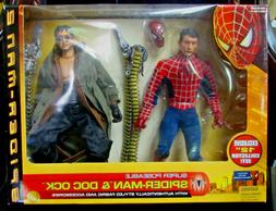 """2004 SPIDER-MAN & DOC OCK 12"""" POSABLE ACTION FIGUREs - TOY B"""