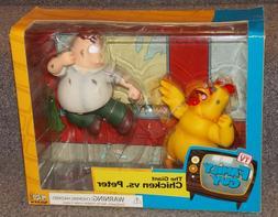 2005 MEZCO Family Guy Giant Chicken vs Peter Action Figure S