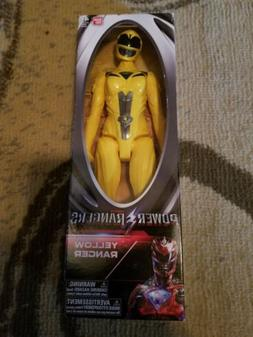 """2017 POWER RANGERS Movie - YELLOW 12"""" inch Action Figure BAN"""