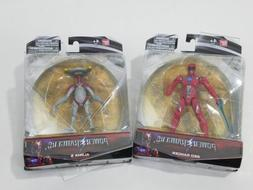 2x Mighty Morphin Power Rangers Movie 5 inch Action Figures