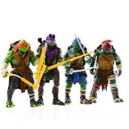 4 Pcs TMNT Teenage Mutant Ninja Turtles Action Figures Anime