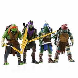 4PCS Lot TMNT Teenage Mutant Ninja Turtles Action Figures An