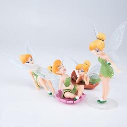4pcs/Set Tinkerbell Fairy Figure Toy Tinker Bell PVC Action