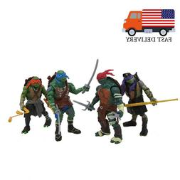 "4PCS Teenage Mutant Ninja Turtles Movie 4"" Action Figure Kid"
