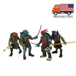 """4PCS Teenage Mutant Ninja Turtles Movie 4"""" Action Figure Kid"""