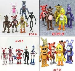 5 Or 6 PCS Set Five Nights At Freddy's FNAF Game Action Figu