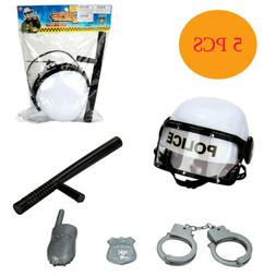 5 Piece Kids Toy Police Dress Up Play Set Officer Costume Ha