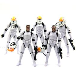 5 x Star Wars 2005 Clone Pilot TROOPER Revenge Of The Sith 5