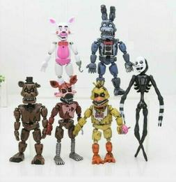 5PCS/6PCS FNAF Five Nights at Freddy's Action Figures 6in. P