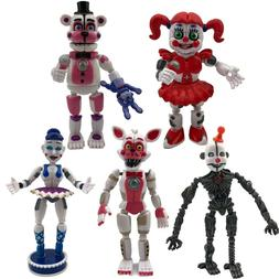 5pcs Five Nights at Freddy's Sister Location Action Figures