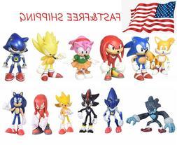 6 pcs sonic the hedgehog action figures