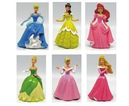 6pc Disney Princess Tiana Cinderella Playset 6 Figure Cake T