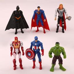Avengers Action Figures Toy Set 6 Pcs Hero - IronMan Hulk Ba