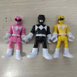 6x Fisher Price Imaginext Power Rangers Pink Yellow Red Blue