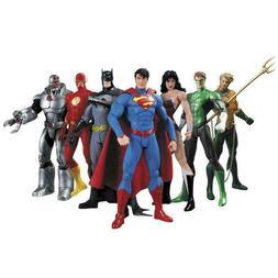 """7 Pcs DC Justice League 7"""" Action Figure Toy Superman/Batman"""