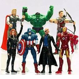 7 PCS The Avengers Hulk+Captain America+Black Widow+Iron Man