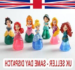 7Pcs Bullyland Ariel Princess Snow White Cinderella Anna Fig