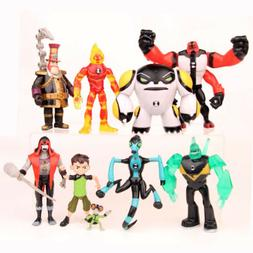 9pcs Ben 10 Action Figure Play set Toy Cake Topper as birthd