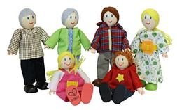 Award Winning Hape Caucasian Doll Family Set for Kid's Dollh