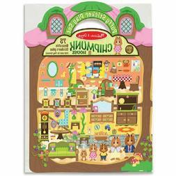 Melissa & Doug Puffy Sticker Activity Book: Chipmunk House -