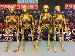 Action Figure Display Accessory Skeletons Lot of 4 Accessori