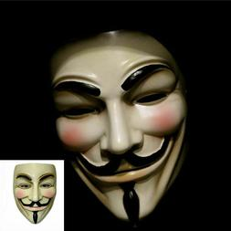 2 Pack of V for Vendetta Mask Fawkes Anonymous Halloween Cos