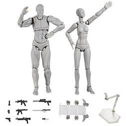 Action Figure Model,Tulas Human Mannequin male/female Set wi